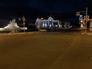 площадь Чапаева ночью