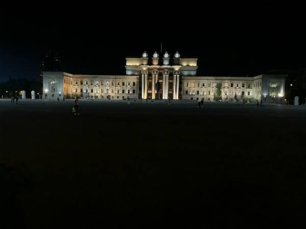 площадь Куйбышева ночью