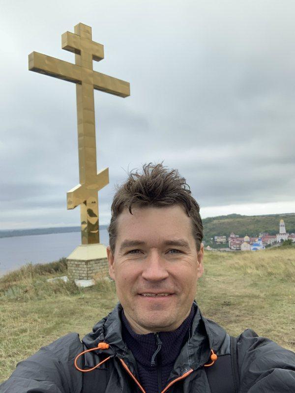 Крест на горе, Мужской монастырь в Винновке, Самарская Лука