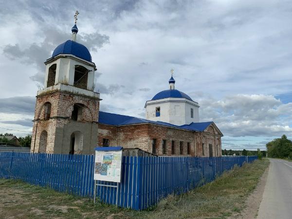 Храм в селе Новинки, Самарская Лука