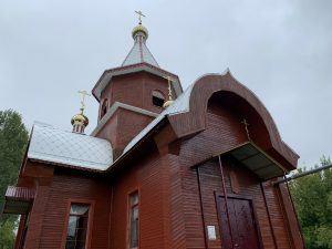 Действующий храм в селе Осиновка, Самарская Лука