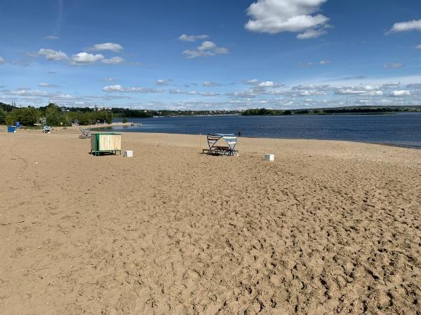 Сызрань, река Волга, центральный пляж