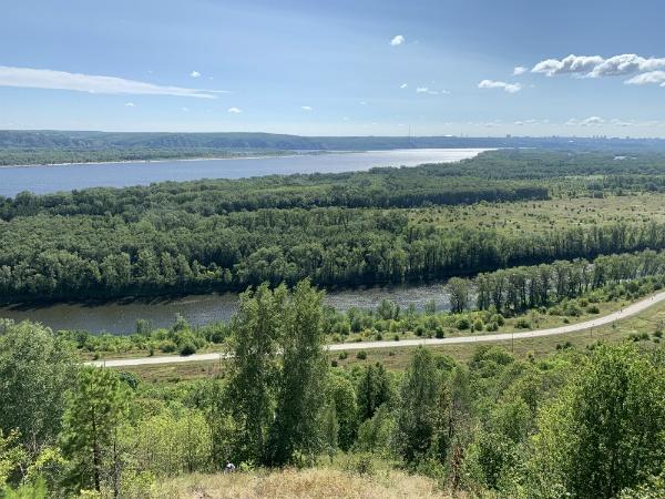 Волга с Жигулёвских гор
