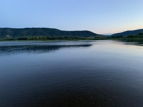 Вид на Ширяево, Волга