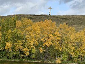 Винновка, крест на горе
