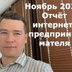Ноябрь 2020. Отчёт интернет-предпринимателя