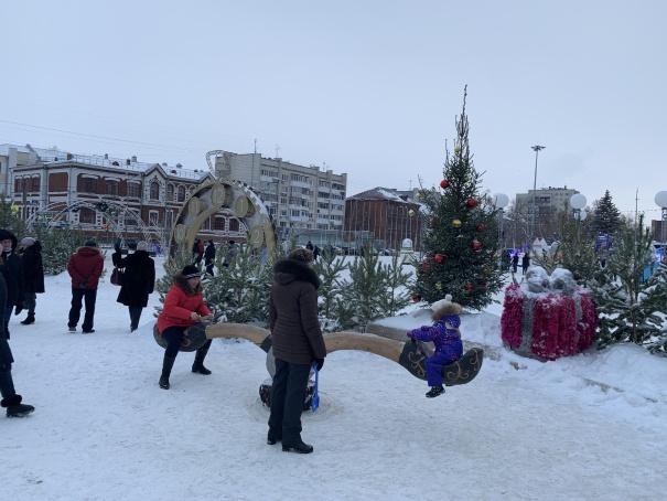 Площадь Куйбышева в Самаре, январь 2021
