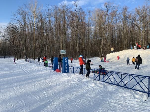 Лыжная база Чайка, январь 2021