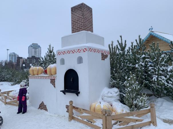 Новогодняя площадь Куйбышева в январе, Самара