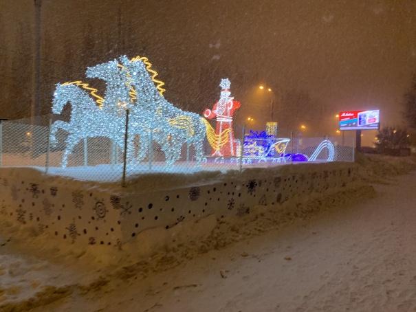 Новогодняя Самара, январь 2021