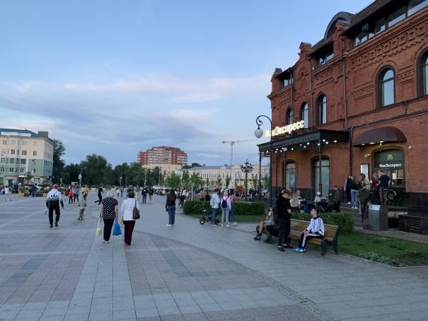 Центральная городская площадь в Пензе