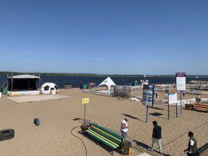 пляж на Волге